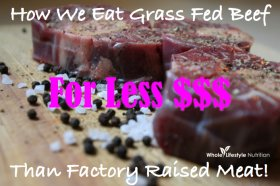 grass fed beef on a budget | WholeLifestyleNutrition.com