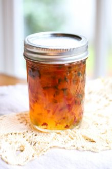 making Homemade Hot Pepper Jelly