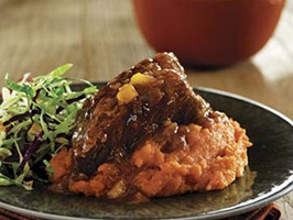 Slow Cooker Beef brief Ribs with Ginger-Mango Barbecue Sauce Ingredients: 5