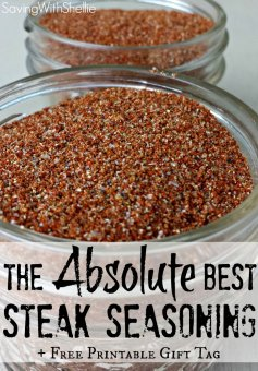try out this recipe for the family members' FAVORITE steak seasoning. We call it secret wipe! Plus additionally a printable label for simple gifting.